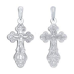 Крест из серебра 94120087 SOKOLOV
