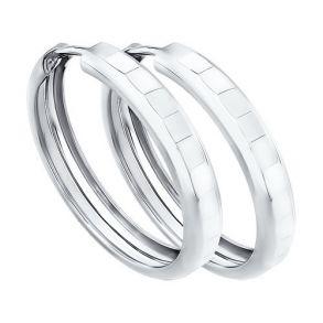 Серьги конго из серебра с алмазной гранью 94140062 SOKOLOV