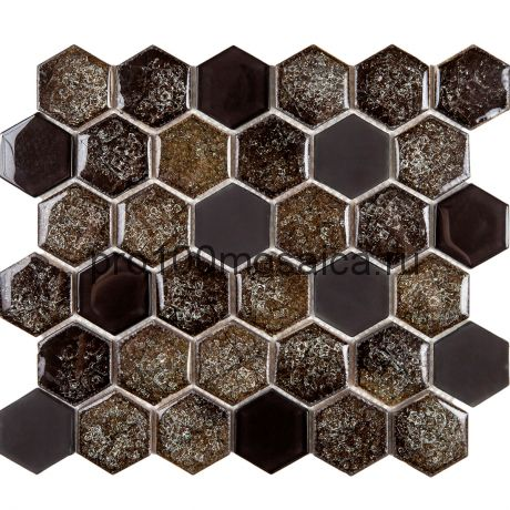 Esagono Misto Espresso. Мозаика серия BRILLANT, размер, мм: 285*245*8 (IMAGINE.LAB)