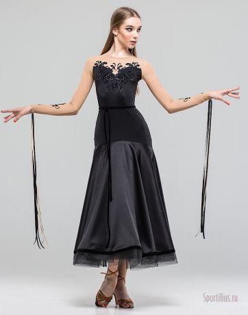 """Платье для танцев стандарт """"Черное золото"""""""