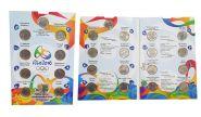БРАЗИЛИЯ полный набор 17 монет Олимпиада 2016 в Рио UNC в альбоме