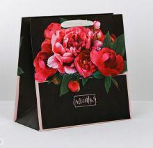 Пакет подарочный  «Счастья», 22 × 22 × 11см
