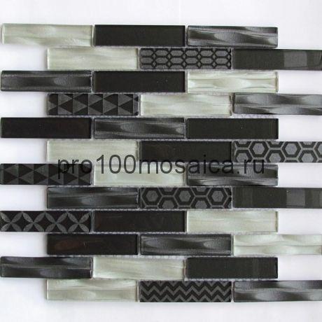 Optima Grey Мозаика серия EXCLUSIVE, чип 23*98, размер, мм: 300*300*6
