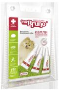 Mr. Bruno Капли репеллентные для щенков и мелких собак весом менее 10 кг (3 шт*1 мл)