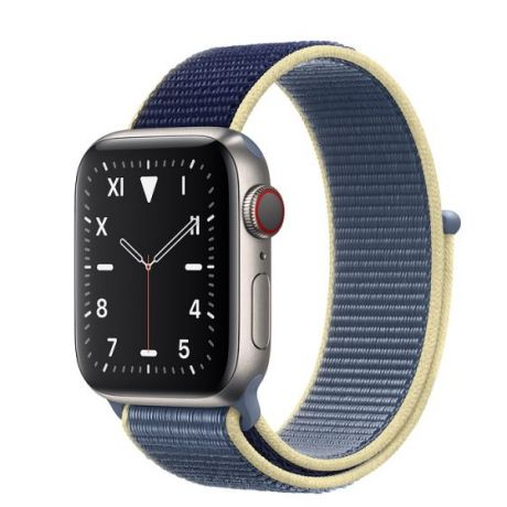 Apple Watch Edition Series 5 Titanium Case 44mm GPS + Cellular Alaskan/Blue with Sport Loop