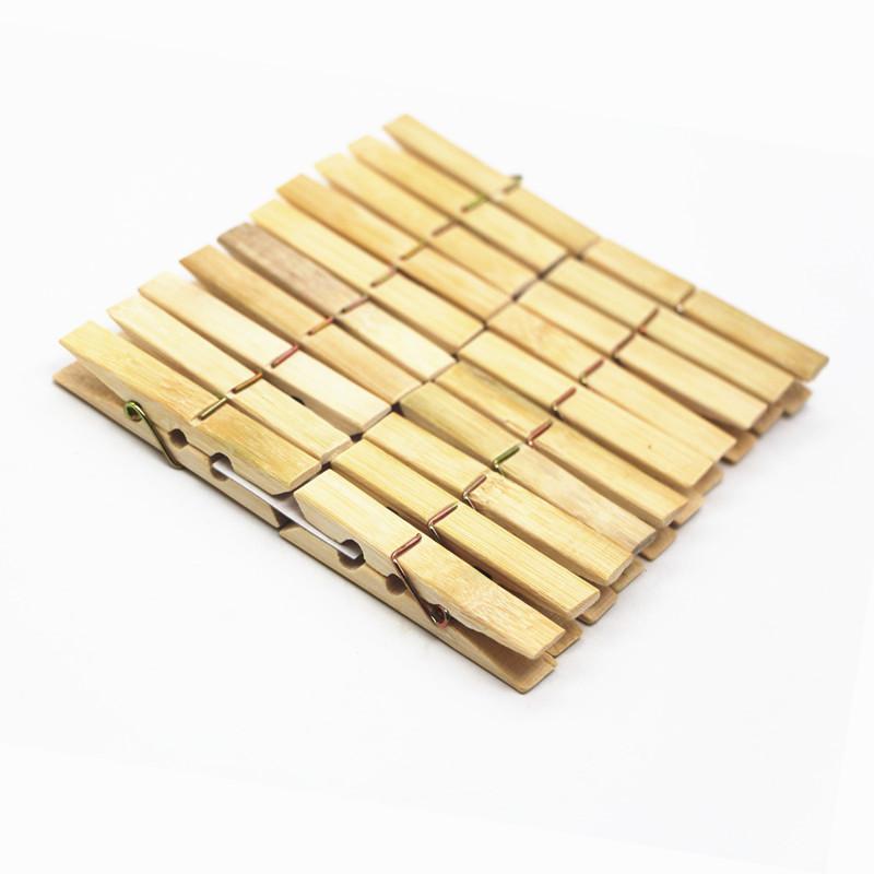 Набор Бамбуковых Бельевых Прищепок Xintong 6 см 20 шт