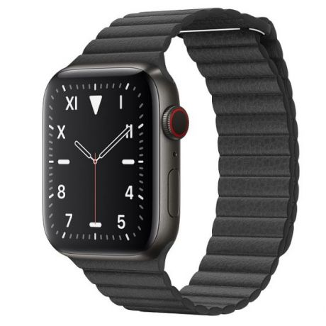Apple Watch Edition Series 5  Space Black Titanium Case 44mm GPS + Cellular Black with Leather Loop