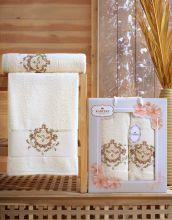 Комплект из 2-х махровых полотенец  Flowers 50*90+70*140 Арт.554.01