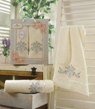 Комплект из 2-х махровых полотенец  Flowers 50*90+70*140 Арт.559.01