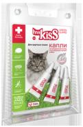 Miss Kiss Капли репеллентные для крупных кошек  более 2 кг. (3 шт *2,5 мл)