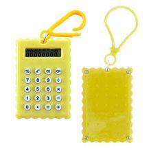 Брелок 8-разрядный калькулятор Печенька, Цвет: Жёлтый