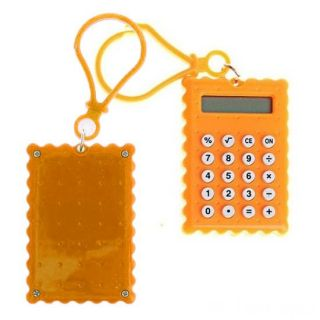 Брелок 8-разрядный калькулятор Печенька, Цвет: Оранжевый
