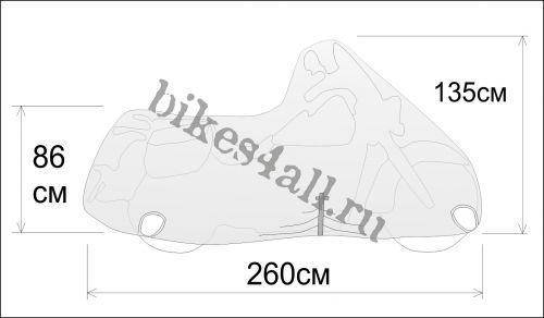 Чехол для мотоцикла Rexwear: XL (чоппер)