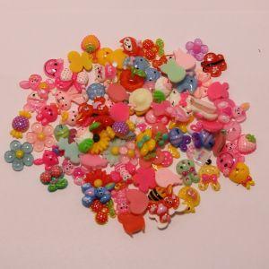 """Кабошон, пластик, """"Микс"""", размер  16-22мм (1уп = 50шт), Арт. КБП0366"""