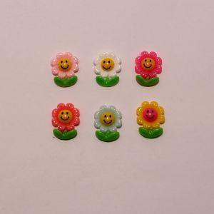 """Кабошон """"Цветок"""", пластик, 23х18 мм (1уп = 50шт), Арт. КБП0386"""