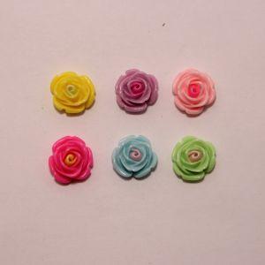 """Кабошон """"Цветок"""", пластик, 20 мм (1уп = 50шт), Арт. КБП0397"""