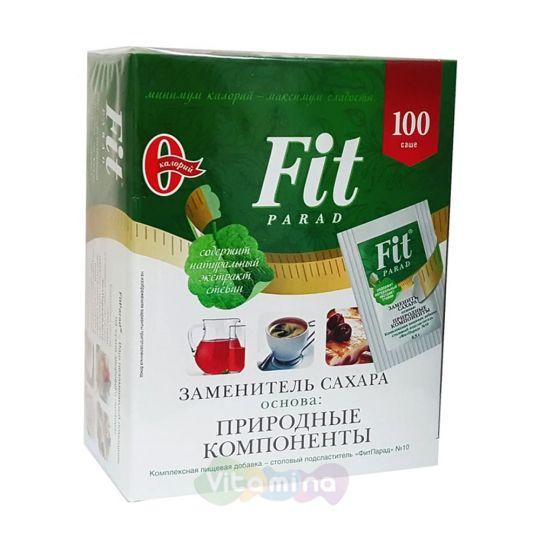 Fit Parad Заменитель сахара на основе эритрита и стевии №10, 100 шт