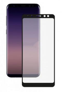 Защитное стекло противоударное PALMEXX для Samsung Galaxy A8 (2018) 5D черное
