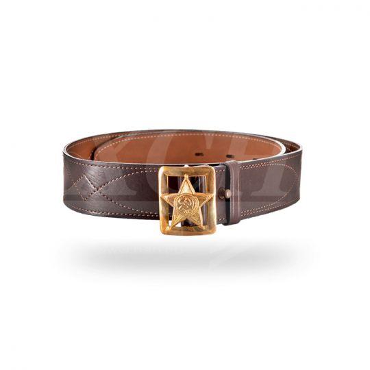 Ремень  поясной «Звезда» 50 мм коричневый