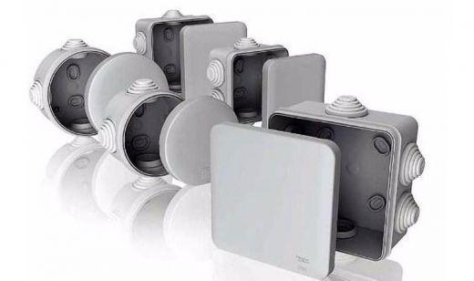 Электромонтажная коробка 70*70*40 IP54 серая для внешней установки Т-Пласт