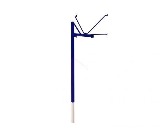 Стойка баскетбольная ZSO уличная одноопорная для игрового щита (1050х1800 мм), вынос 1200 мм