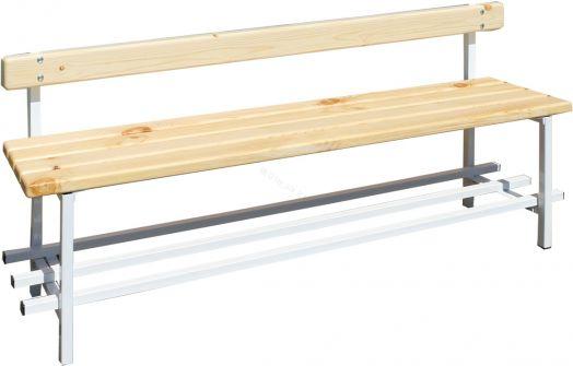 Скамья для раздевалок со спинкой 2 м