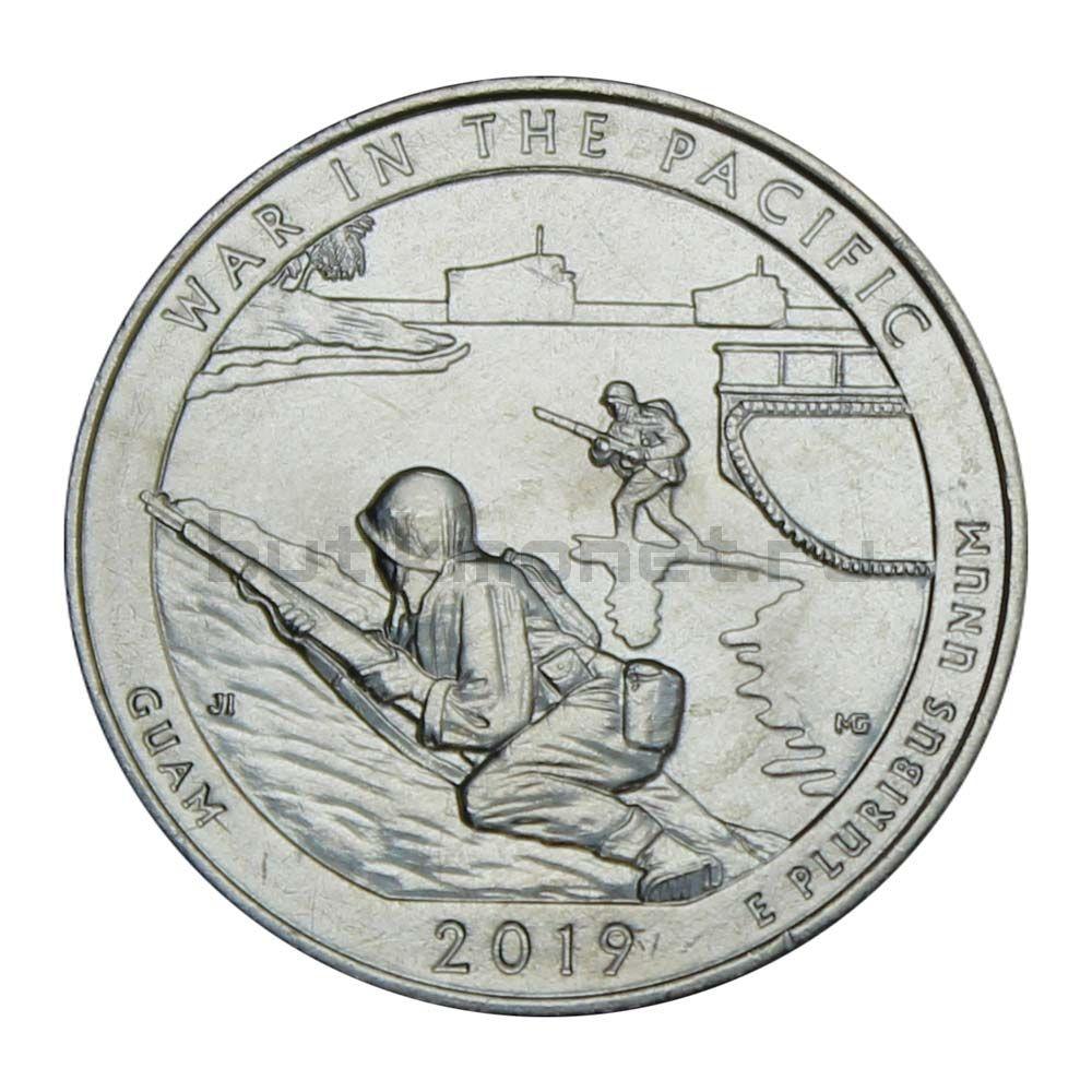 25 центов 2019 США Национальный исторический парк Войны в Тихом океане P