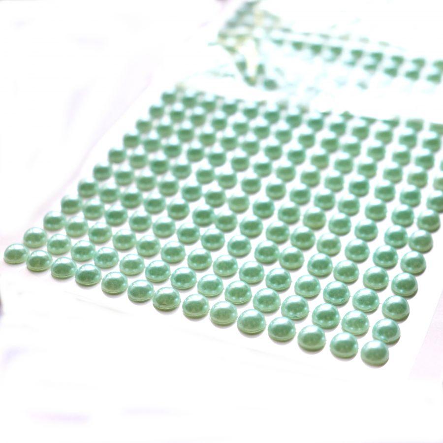 Акриловые полубусины, цвет Мятный,  6 мм, ~500 шт/наб