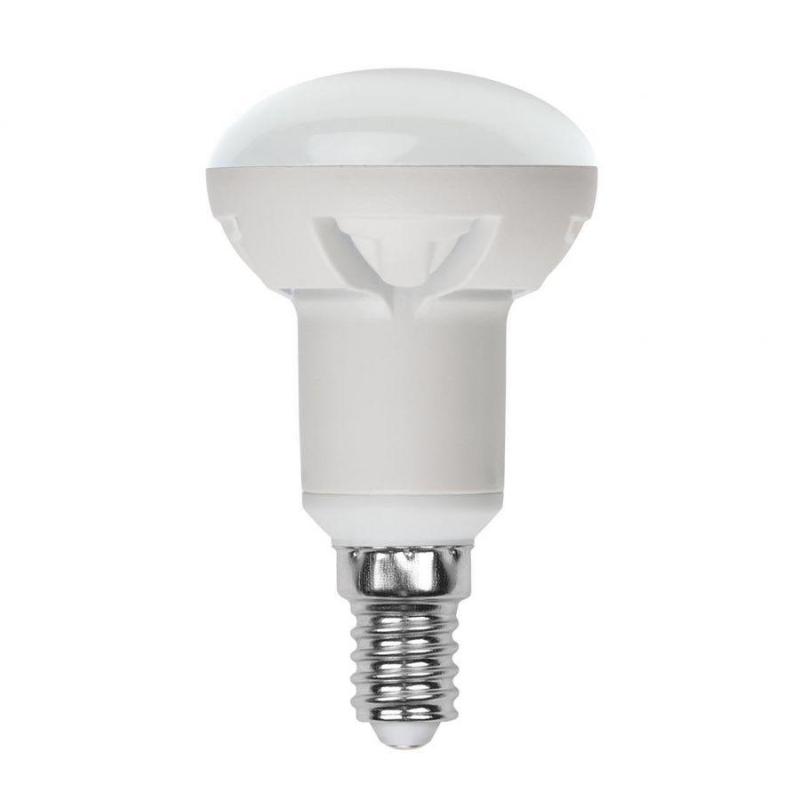 Лампа светодиодная диммируемая (UL-00004710) E14 7W 3000K матовая LED-R50 7W/3000K/E14/FR/DIM PLP01WH