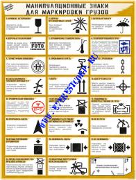 Манипуляционные знаки для маркировки грузов