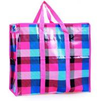 Двухслойная прочная хозяйственная сумка на молнии, цвет розовый