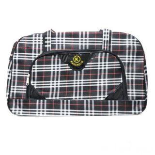 Дорожная сумка Саквояж, 52х19х33 см, Цвет узора: Чёрный