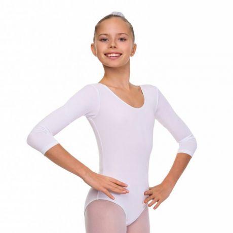 белый гимнастический купальник Соло