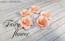 """Бумажные розы """"Розовый рассвет"""""""
