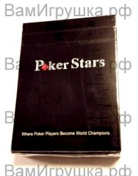 Карты для покера Poker Stars (пластиковые)