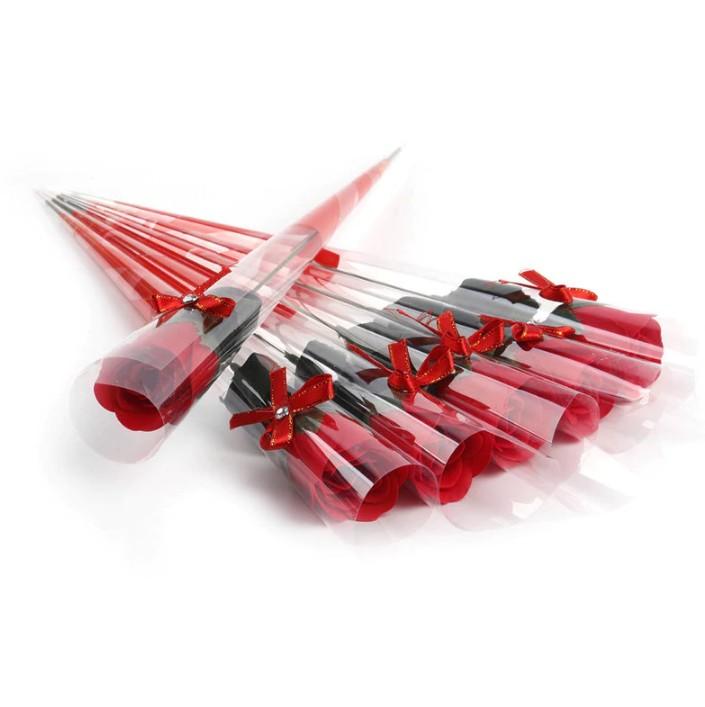 Роза из парфюмированного мыла I Love You, 40 см, цвет красный