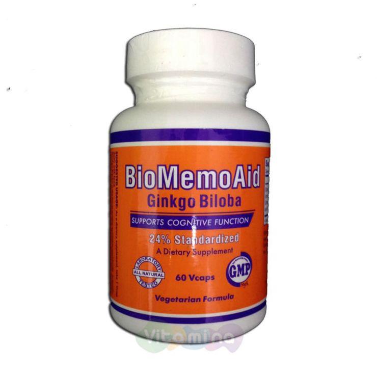 Гинкго Билоба экстракт (биомемоэйд) 350 мг. 60 капс.