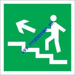 Направление к эвакуационному выходу по лестнице вверх (левосторонний)