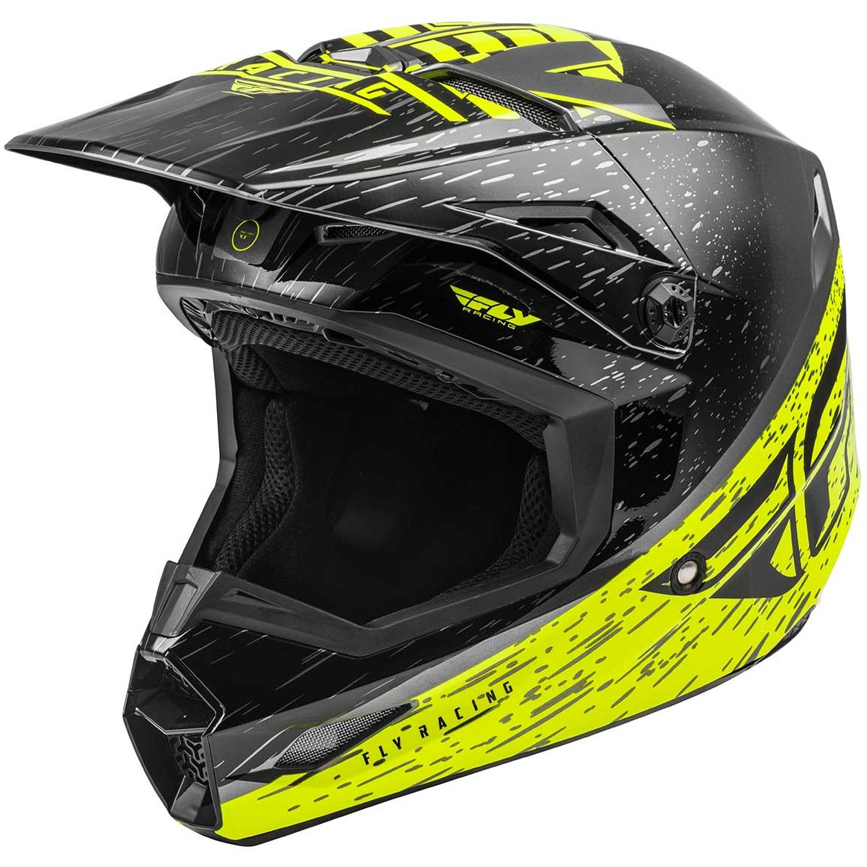 Fly Racing - 2020 Kinetic K120 Youth Yellow/Grey/Black шлем подростковый, желто-серо-черный