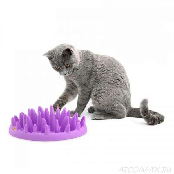 Интерактивная кормушка Dog & Cat Interactive Feeder, Цвет: Розовый