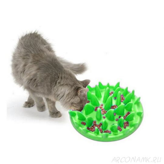 Интерактивная кормушка Dog & Cat Interactive Feeder, Цвет: Салатовый