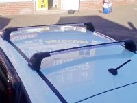 Багажник на крышу Kia Ceed hatchback, Turtle Air 3, аэродинамические дуги в штатные места (серебристый цвет)