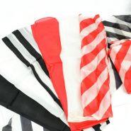 """Шелковый набор """"Зебра"""" (красно-белый / чёрно-белый) 45 см"""