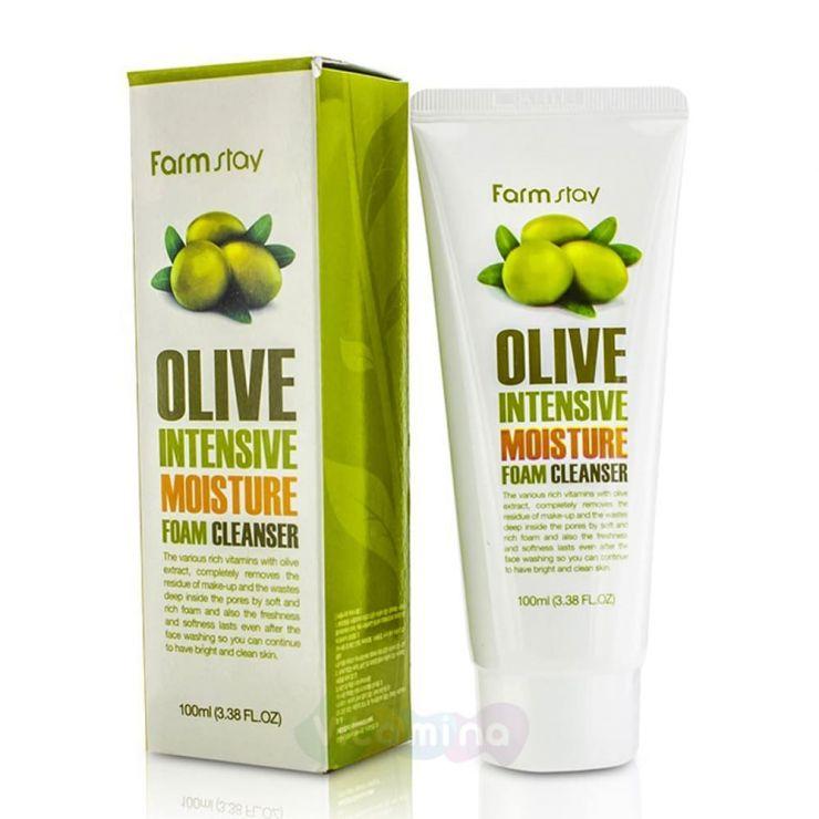 FarmStay Увлажняющая пенка для умывания с экстрактом оливы Olive Intensive Moisture Foam Cleanser, 100 мл
