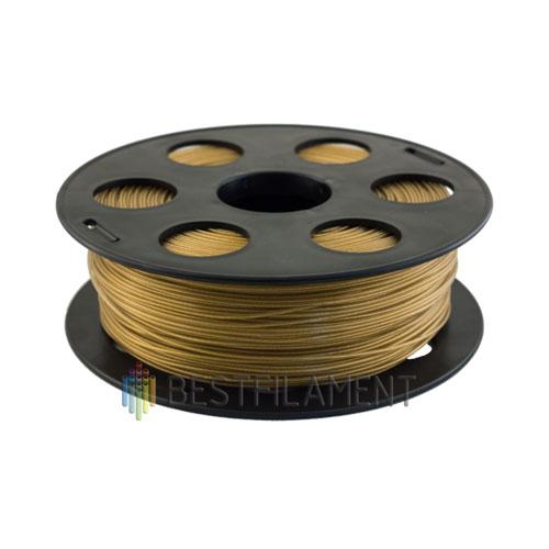 PLA пластик Bestfilament 1,75 мм, Золотистый металлик, 1 кг