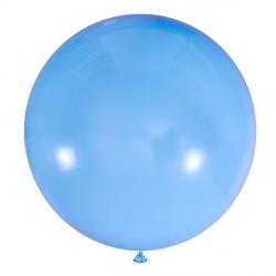 Голубой полуметровый латексный шар с гелием