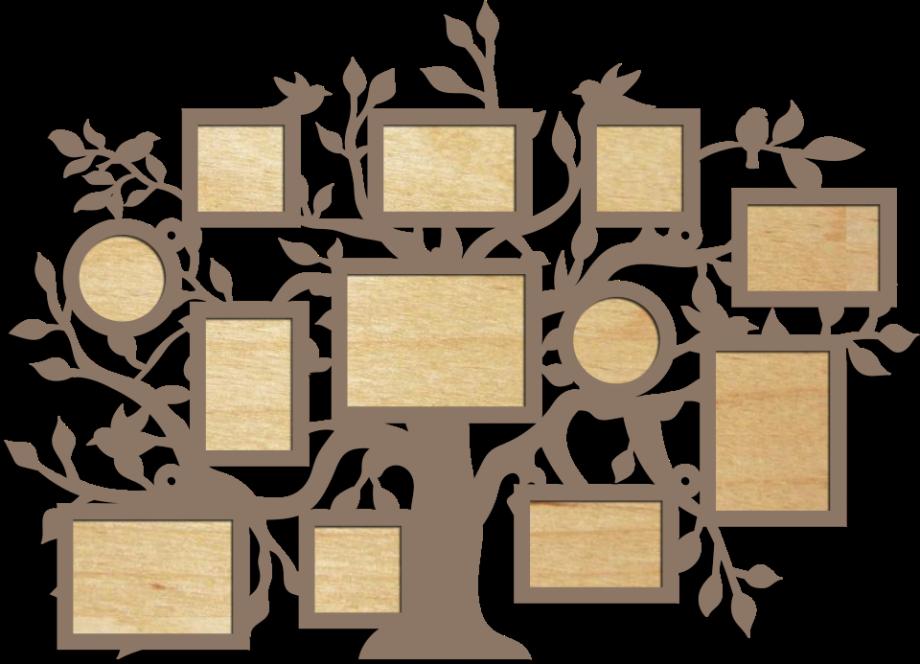 Семейное дерево с фоторамками 3