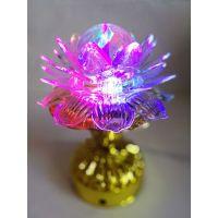 Декоративный LED-светильник на подставке Лотос, 17 см (1)