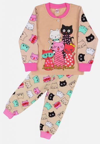 Пижама с начесом, для девочек 2-6 лет BN1251 беж