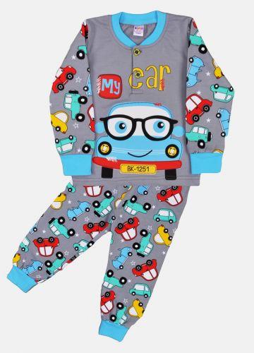 Пижама с начесом, для мальчиков 2-6 лет BN922 серый